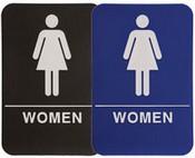 "WOMEN Stock ADA Sign, 6""x9"" ADA Stock Signs ada sign requirements ada compliant signs custom ada signs ada guidelines signs ada signs wholesale ada bathroom signs ada signs online ADA Office Signs"