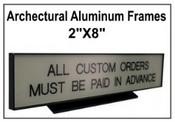 "2""x8"" Architectural Desk Frame"
