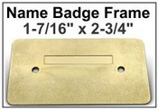 "Bright Rose Gold Aluminum Badge Frame 1-7/16"" x 2-3/4"""