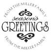 Custom Season Greetings Monogram Address Stamp
