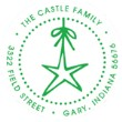 Custom Star Monogram Address Stamp