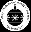 Christmas Ornament Monogram Stamps