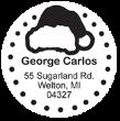Santa Hat Monogram Stamps
