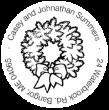 Christmas Wreath Monogram Stamp