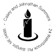 Christmas Candle Light Monogram Stamp