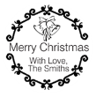 Merry Christmas With Love Monogram Stamp