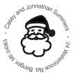 Christmas Santa Claus Monogram Stamp
