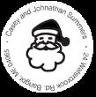 Christmas Santa Claus Monogram Stamp