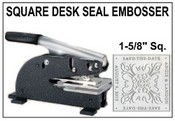 "1-5/8"" Square Emossing Seal