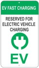 EV Fast Charging Station Sign