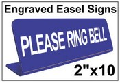 "2"" x 10"" Engraved Easel Tabletop Sign"
