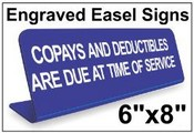 "6""x8"" Engraved Easel Tabletop Sign"