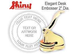 Elegant Brass Desk Embosser Elegant Desk Embosser - Brass