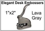 Elegant Lava Gray Desk Embosser Elegant Desk Embosser - Lava Gray