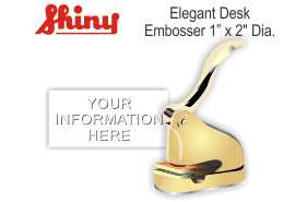 Elegant Gold Address Embosser