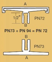 PN-72 Architectural Corridor Sign Frame