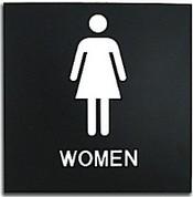 "Presto Black 8"" x 8"" Women Ready Made ADA Sign"