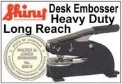 Long Reach Embossing Seal Long Reach Embosser Shiny EZ-EH Long Reach Embosser