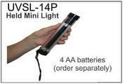 UVSL-14P MINI, UV LAMP, 4W, LW/SW, 4AA