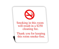 Engraved No Smoking Easel Tabletop Sign